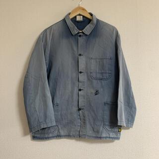 フレンチワークジャケット ヘリンボーンツイル(カバーオール)