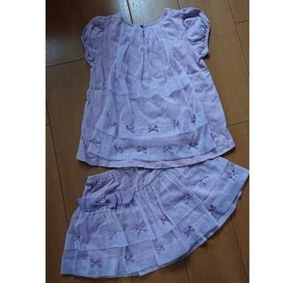 JILLSTUART NEWYORK - ジルスチュアート 130 チュール  半袖 キュロット スカート セット 美品