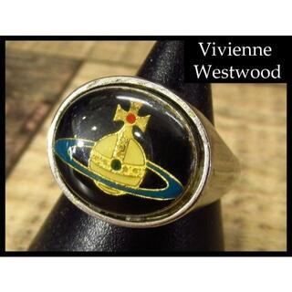 ヴィヴィアンウエストウッド(Vivienne Westwood)の希少 ヴィヴィアンウエストウッド 初期 復刻 エナメル オーブ リング 20号(リング(指輪))