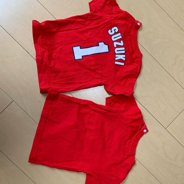 広島東洋カープ(ヒロシマトウヨウカープ)の広島カープ CARP Tシャツ セット 90センチ スポーツ/アウトドアの野球(応援グッズ)の商品写真