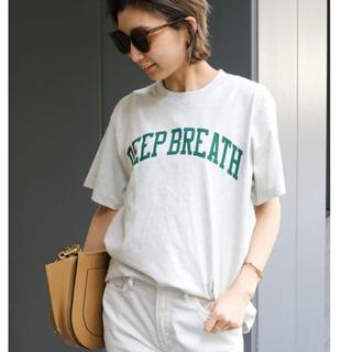 ドゥーズィエムクラス(DEUXIEME CLASSE)の 【SKIN/スキン】 DEEP BREATH Tシャツ ナチュラル(Tシャツ(半袖/袖なし))