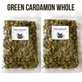 グリーンカルダモンホール100g 保存に便利なチャック式袋(調味料)