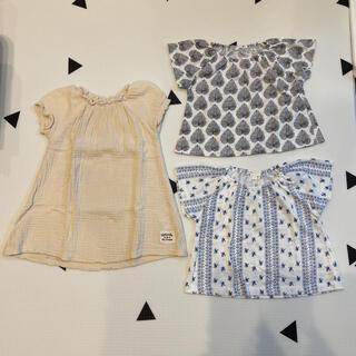 ニシマツヤ(西松屋)の売り切りお値下げ☺︎ 女の子 95  夏服 3枚セット(その他)