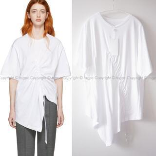 マルタンマルジェラ(Maison Martin Margiela)のメゾン マルジェラ ギャザー ドローコード カットソー Tシャツ トップス(Tシャツ(半袖/袖なし))
