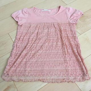 ピンク レース Tシャツ(Tシャツ(半袖/袖なし))