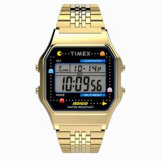 タイメックス(TIMEX)のTIMEX パックマン コラボウォッチ ゴールド T-80 Pac-man (腕時計(デジタル))