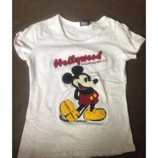 ドルチェアンドガッバーナ(DOLCE&GABBANA)のドルガバ☆ディズニーミッキーTシャツ☆中古(Tシャツ(半袖/袖なし))