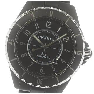 シャネル(CHANEL)の☆良品 シャネル J12 マットブラック H3131 自動巻き メンズ 【中古】(腕時計(アナログ))