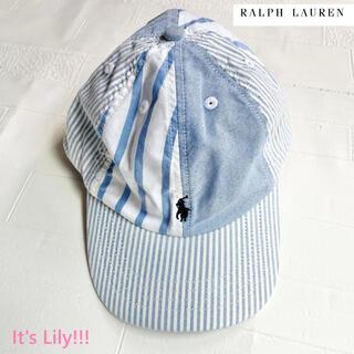 ラルフローレン(Ralph Lauren)の4-7歳サイズ 新作 ラルフローレン キャップ オックスフォード 帽子(帽子)
