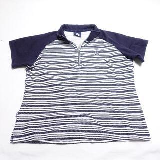 ウィルソン(wilson)のWILSON 半袖シャツ レディース ネイビー(Tシャツ(半袖/袖なし))