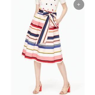 ケイトスペードニューヨーク(kate spade new york)の処分価格 未使用 ケイトスペード ストライプ コットン スカート(ひざ丈スカート)