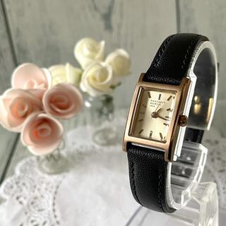 マーガレットハウエル(MARGARET HOWELL)の【電池交換済】MARGARET HOWELL 腕時計 スクエア ゴールド(腕時計)