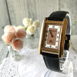 バーバリー(BURBERRY)の【動作OK】BURBERRY バーバリー 12100G 腕時計 レクタンギュラ(腕時計)