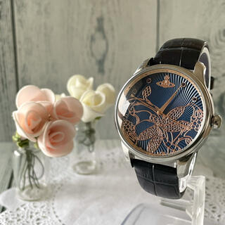 ヴィヴィアンウエストウッド(Vivienne Westwood)の【電池交換済み】ヴィヴィアン 腕時計 VV197NVNV 花柄 ネイビー(腕時計)