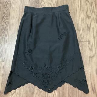 ケイタマルヤマ(KEITA MARUYAMA TOKYO PARIS)のケイタマルヤマ シルク膝丈スカート(ひざ丈スカート)