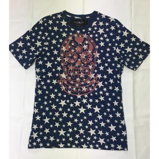 ハイドロゲン(HYDROGEN)のハイドロゲン Tシャツ 星柄 骸骨 ドクロ スカル ネイビー 紺色 メンズ(Tシャツ/カットソー(半袖/袖なし))