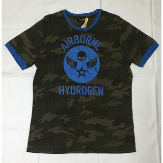 ハイドロゲン(HYDROGEN)のハイドロゲン Tシャツ 迷彩 骸骨 スカル ドクロ カーキ メンズ(Tシャツ/カットソー(半袖/袖なし))