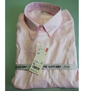 ユニクロ(UNIQLO)のUNIQLO  オックスフォード ボタンダウンシャツ ピンク サイズXL (その他)