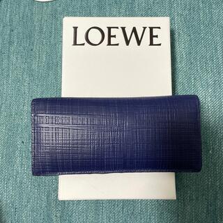 ロエベ(LOEWE)のロエベ 財布 ブルー 長財布(長財布)