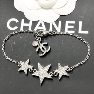 CHANEL - 正規品 シャネル ブレスレット スター 星 ココマーク ラメ ラインストーン 銀