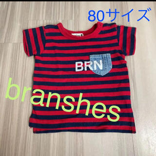 ブランシェス(Branshes)のbranshes ブランシェス Tシャツ 80 ボーダー(Tシャツ)