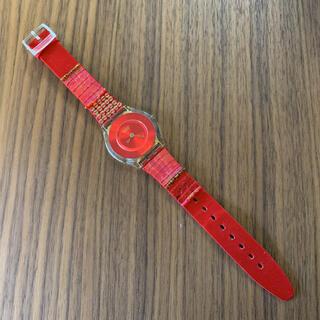 スウォッチ(swatch)のSwatch  赤 時計(腕時計)