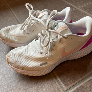 Nike ナイキ レボリューション ランニングシューズ 白 ピンク ホワイト(シューズ)