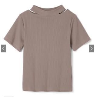 グレイル(GRL)のGRL  カットデザインリブトップス M(カットソー(半袖/袖なし))