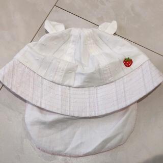 ニシマツヤ(西松屋)の新品未使用 ベビー帽子 50(帽子)