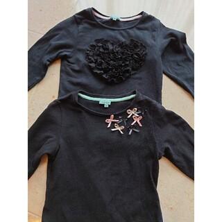 トッカ(TOCCA)のTOCCA トッカ キッズ 100センチ 長袖Tシャツ 黒 2枚セット(Tシャツ/カットソー)