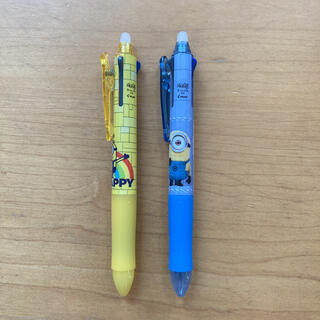 フリクションメイド(FRICTION made)の新品未使用 2本セット ミニオン フリクション 3色ボールペン 消せるボールペン(ペン/マーカー)