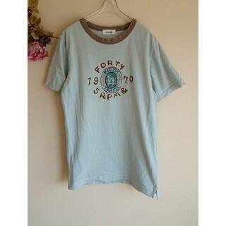 フォーティーファイブアールピーエム(45rpm)の【45rpm&】TAHITI半袖Tシャツ グレイッシュブルー(Tシャツ(半袖/袖なし))