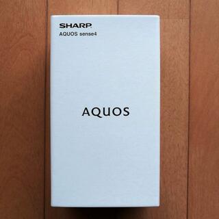 アンドロイド(ANDROID)の【新品未開封】AQUOS sense4 SH-M15 ブラック SIMフリー(スマートフォン本体)