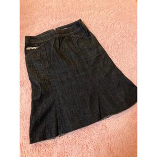 バーバリー(BURBERRY)のBurberryデニムスカート(ひざ丈スカート)
