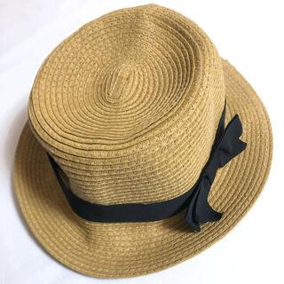 ヘザー(heather)のヘザー 麦わら帽子 帽子 (麦わら帽子/ストローハット)