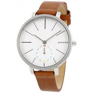 スカーゲン(SKAGEN)の新品 SKAGEN レディース 腕時計 SKW2434 ライトブラウンレザー(腕時計)