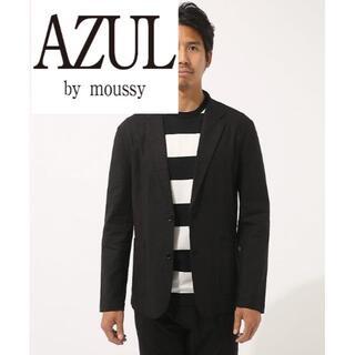 アズールバイマウジー(AZUL by moussy)のリネンレーヨンストレッチテ-ラードジャケット(テーラードジャケット)