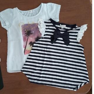 エニィファム(anyFAM)のTシャツ 120 cm  2枚セット 女の子 夏 半袖(Tシャツ/カットソー)