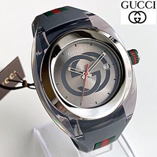 グッチ(Gucci)の【新商品】定価5.8万 GUCCIグッチ 男性メンズ 腕時計 新品 グレーお立ち(ラバーベルト)