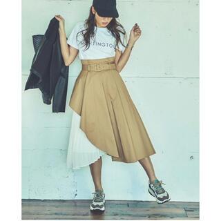 ラグナムーン(LagunaMoon)のラグナムーン トレンチ プリーツ スカート(ひざ丈スカート)
