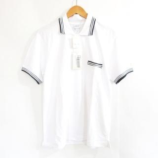 アルマーニ コレツィオーニ(ARMANI COLLEZIONI)のアルマーニ コレツィオーニ ポロシャツ 半袖 袖ロゴ ホワイト 白 M(ポロシャツ)