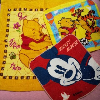 ディズニー(Disney)のディズニー   タオルハンカチ   3セット(ハンカチ)