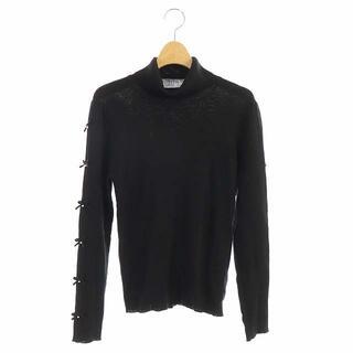 GALLERY VISCONTI - ギャラリービスコンティ ニット セーター リブ ハイネック 長袖 リボン 3 黒
