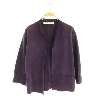 マルニ(Marni)のマルニ レザージャケット 七分袖 牛革 紫 パープル /MY ■OS(その他)