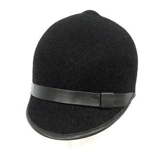 ダブルスタンダードクロージング(DOUBLE STANDARD CLOTHING)のダブルスタンダードクロージング ダブスタ ポーラー帽 帽子 ウール 黒(パーカー)