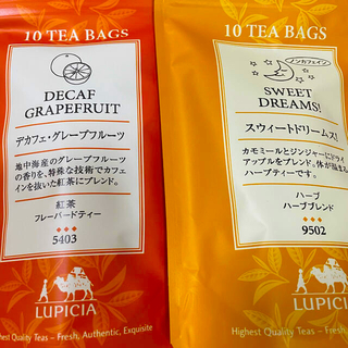 ルピシア(LUPICIA)のルピシア紅茶 ティーバッグ スウィートドリームス! デカフェ グレープフルーツ(茶)