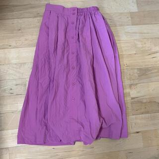 オリーブデオリーブ(OLIVEdesOLIVE)のロングスカート ピンク(ロングスカート)