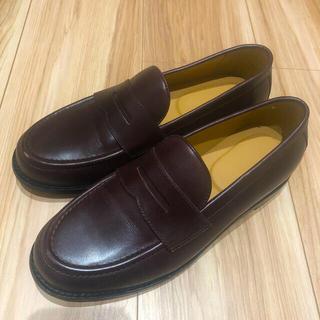 ムジルシリョウヒン(MUJI (無印良品))の無印良品 ローファー 25cm バーガンディ 未使用品(ローファー/革靴)