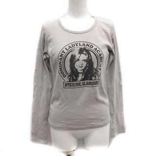 ヒステリックグラマー(HYSTERIC GLAMOUR)のヒステリックグラマー Tシャツ カットソー プリント ラメ F グレー(Tシャツ(長袖/七分))