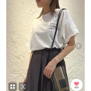 ミラオーウェン(Mila Owen)の今季 Mila owen 短丈ワイドグラフィックTシャツ(Tシャツ(半袖/袖なし))